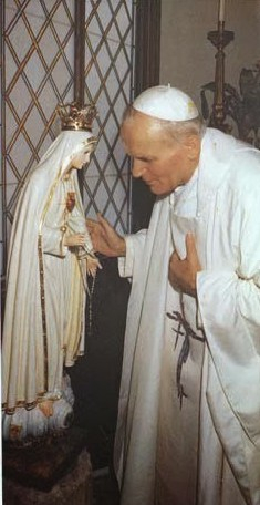 Pope John Paul with Our Lady
